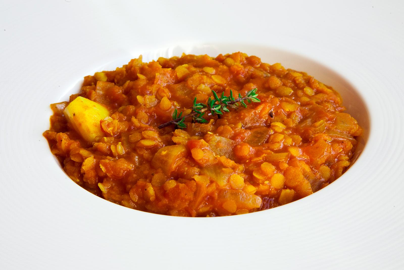 Lentejas Rojas Al Curry Veganisimo